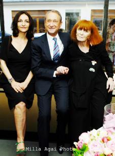 Nathalie Rykiel, Bertrand Delanoë and Sonia Rykiel