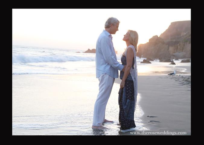 Heather and Jason at El Matador Beach.