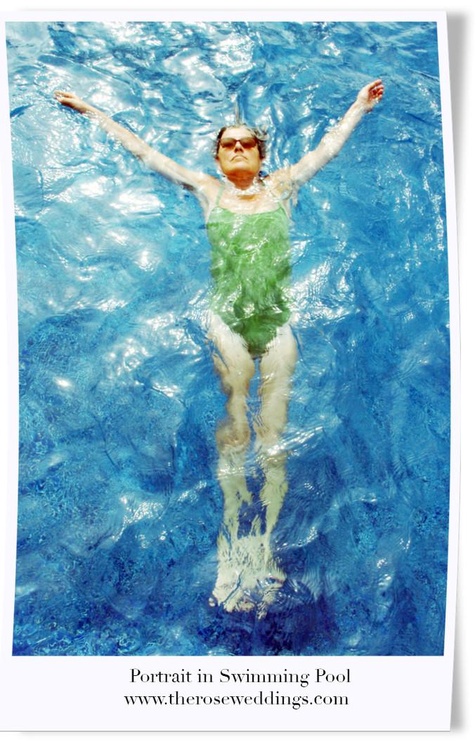 Portrait in Swimming Pool
