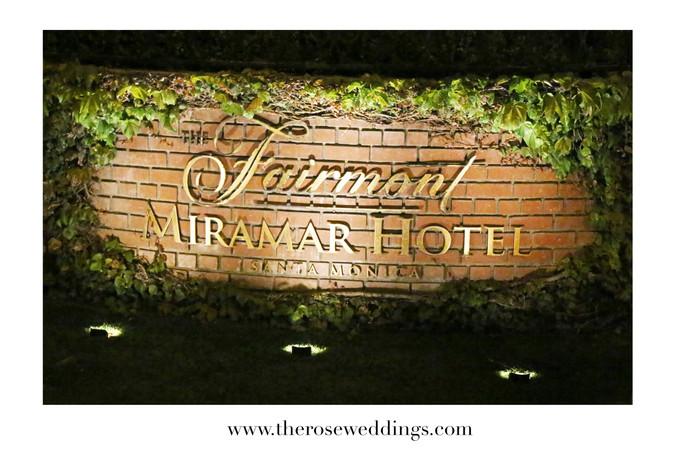 Venue Scouting: Fairmont - Miramar Hotel
