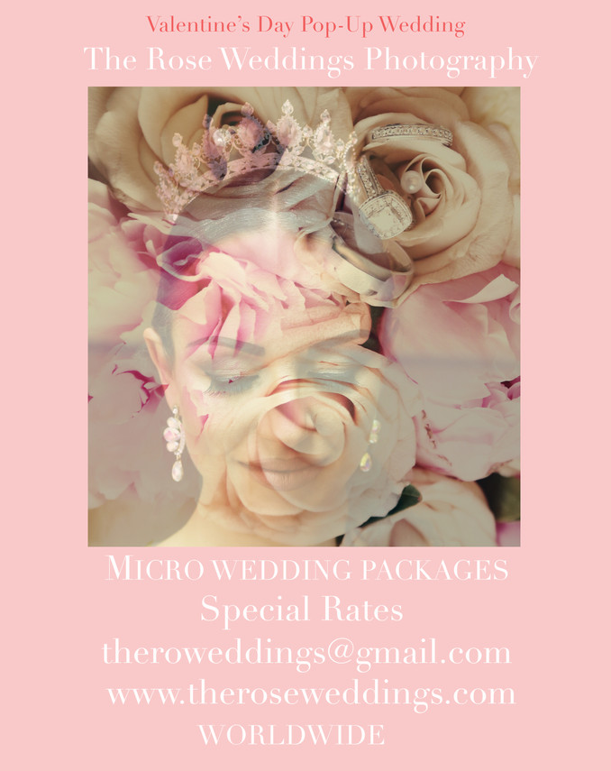 Valentine's Day Pop-Up Wedding. Special Rates for Micro Wedding. Love is not cancelled! ️