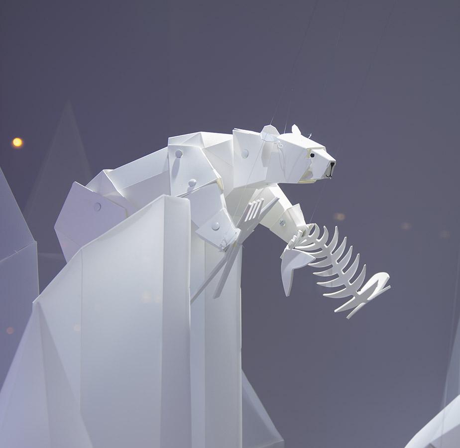 Ours des vitrines de Noël GL