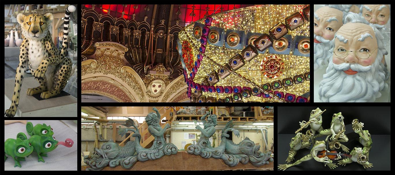 l'Atelier Bournillat Sculpture crée des pièces et des décors pour les grandes marques Galeries Lafayette, le Printemps Haussmann, Louis Vuitton, Cartier, Disney, Bhv Rivoli, Dior ...