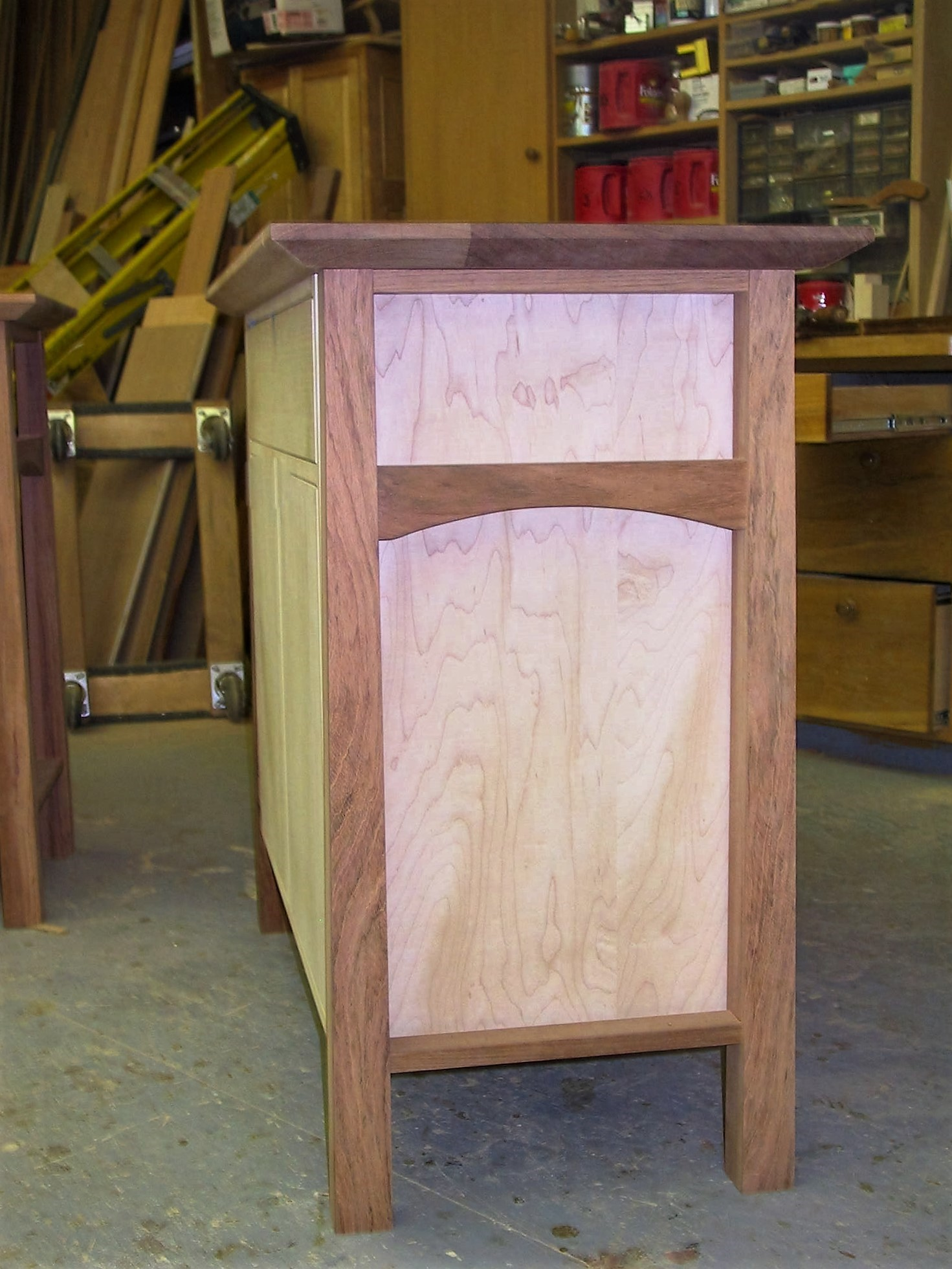 Jatoba~Maple Cabinet 1