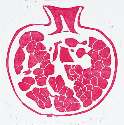 """Pomegranate,"" Print by Liz"