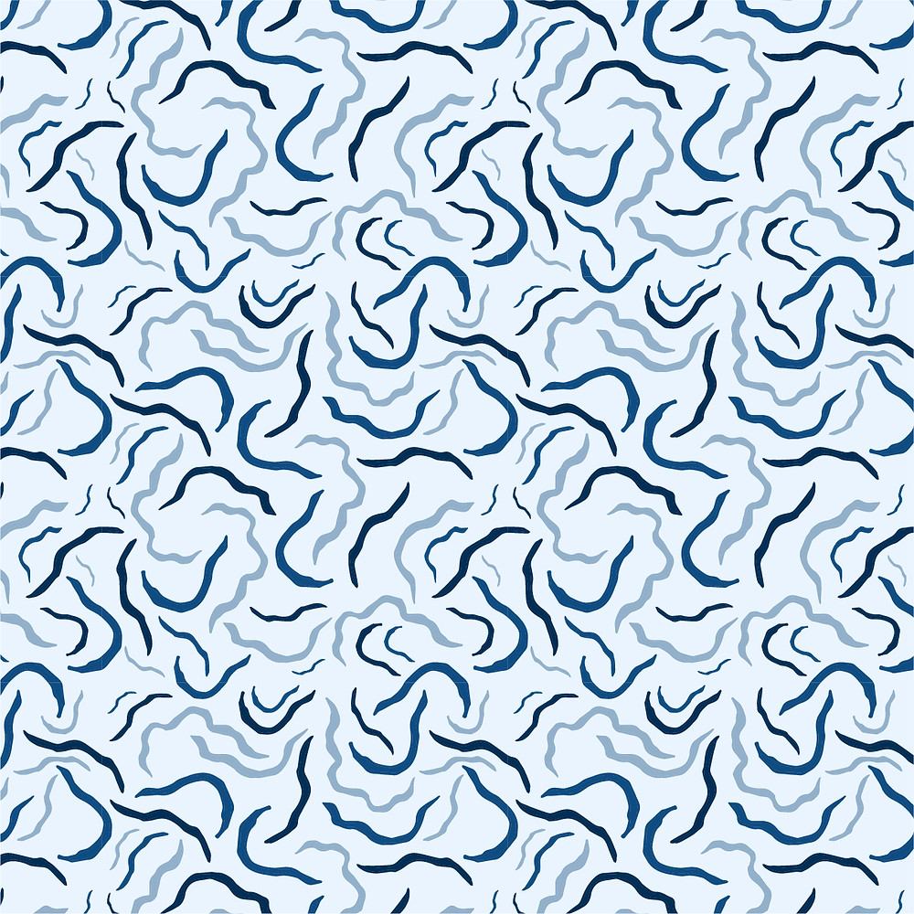 Image of water surface, monochrome in blue