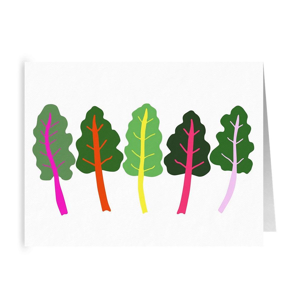 Rainbow Chard Greeting Card