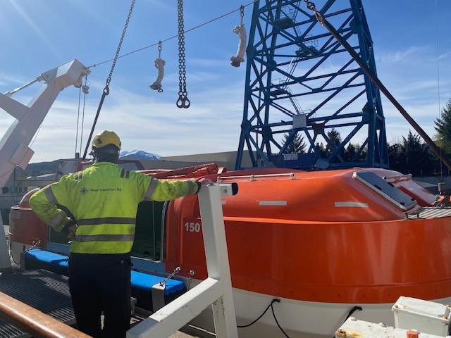 Montering av båter etter last test