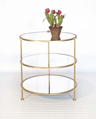 Gold Leaf 3-Tier Table