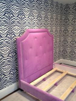 Pink Upholstered Headboard & Rails