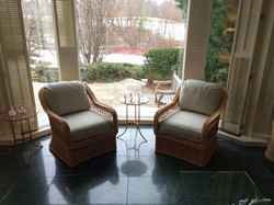 Upholstery on Wicker Chairs