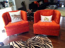 Swivel Barrel Chairs Fine Upholstery