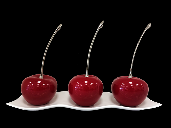 Red Ceramic Cherries