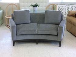Custom Curved Sofa, Upholstery