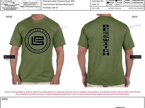"""BE THE SWITCH TEE """"OD GRN"""""""