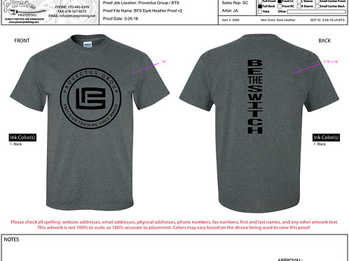 "BE THE SWITCH TEE ""GREY"""