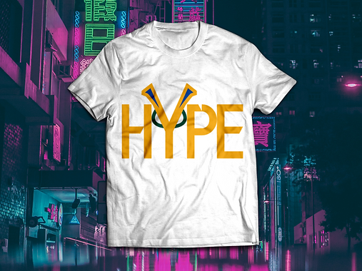 HYPE T-shirt mockup Colour on White BG.p