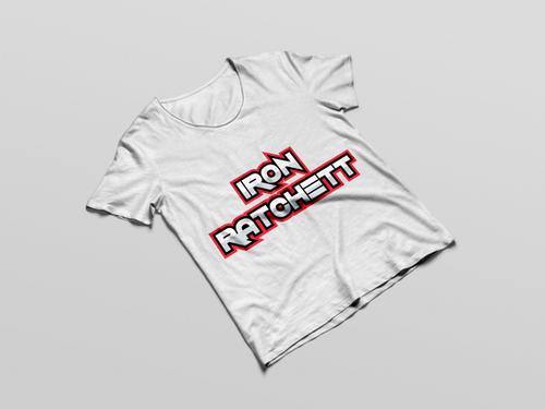 Iron Ratchett Brand White T-Shirt