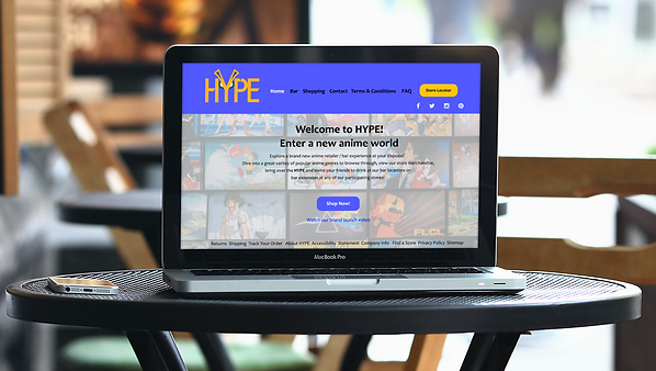 HYPE Landing Page Mockup
