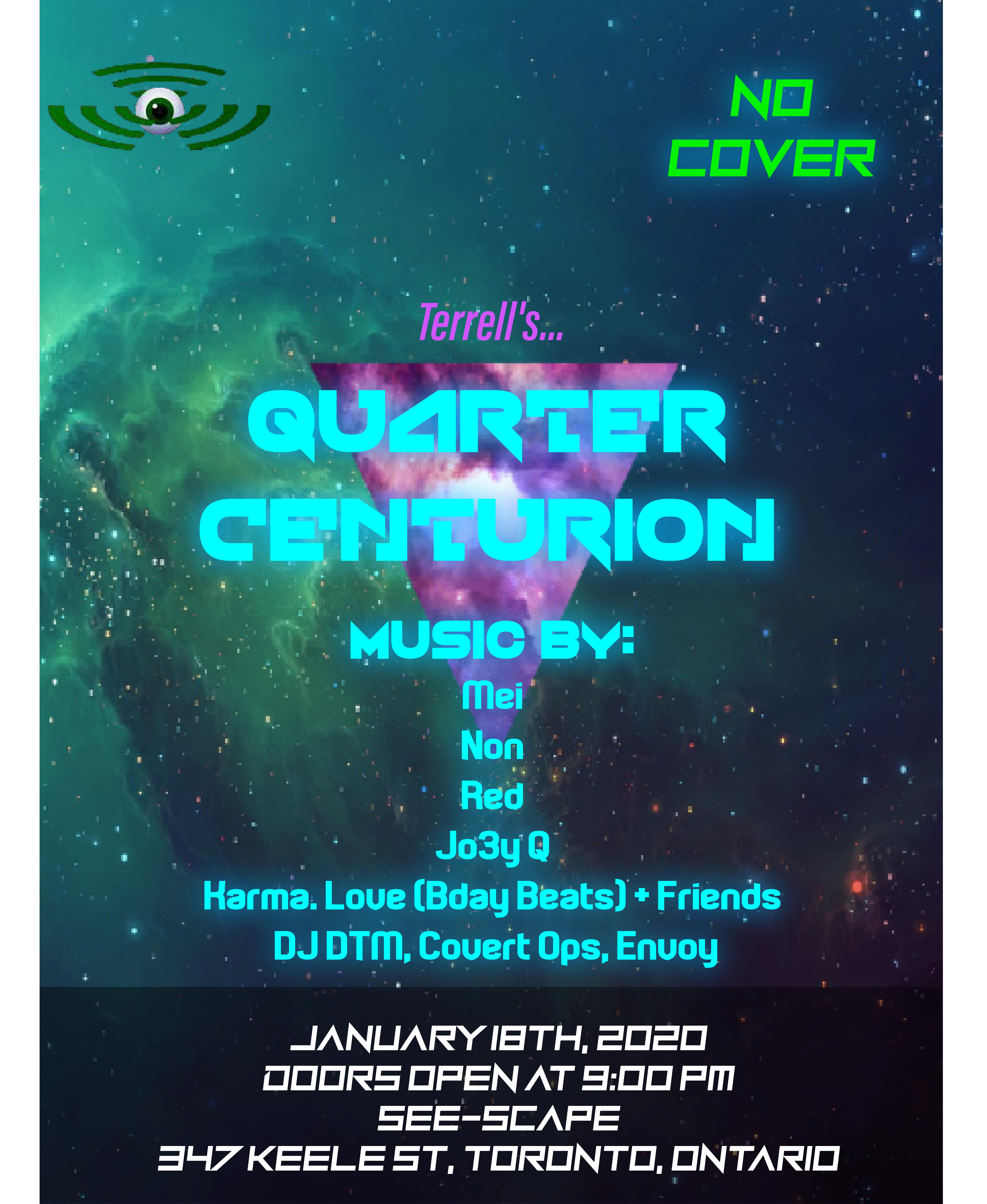 Quarter Centurion Event Poster