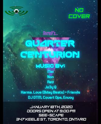 Quarter Centurion Event Poster Jan 18th,