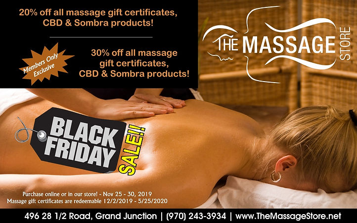 Black Friday MassageSpecial