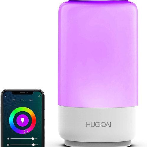 Lámpara de mesa inteligente WIFI de colores, HUGOAI funciona con Alexa