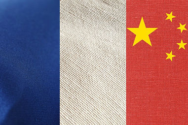 Chinese French flag made in garment supplier in Asia