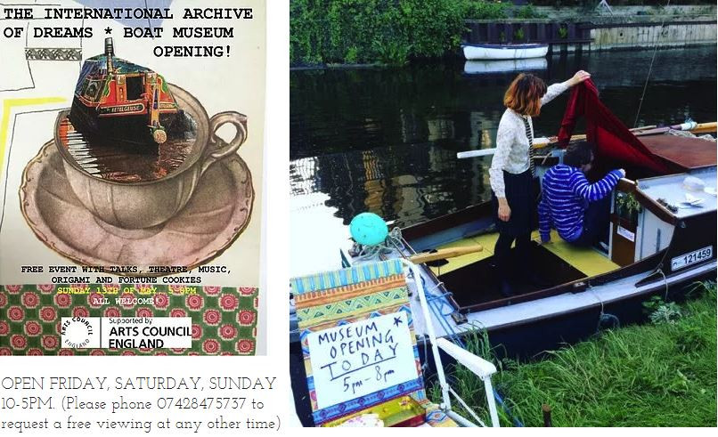 Grand Opening of the International Archive of Dreams: A floating museum in Mile End