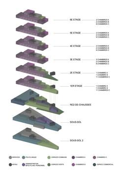 axonometric diagram, program