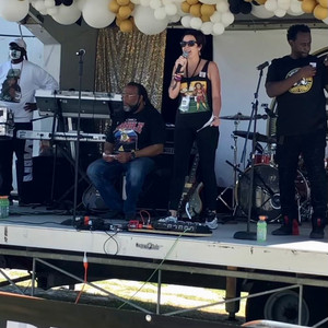 On Stage at BLM 5K Run