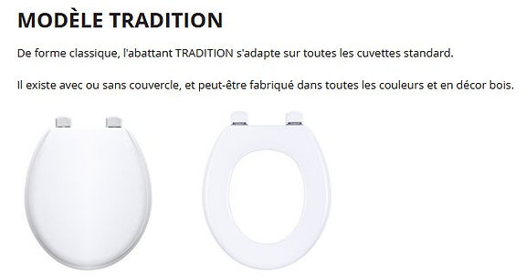 abattant wc olfa tradition par cabsan France