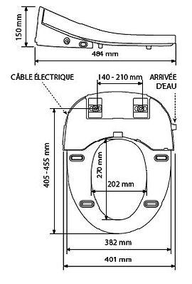 ABATTANT WC ASEO+ OLFA - CABSAN
