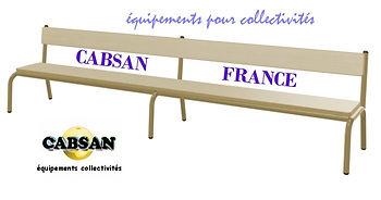 banc pour collectivités CABSAN FRANCE