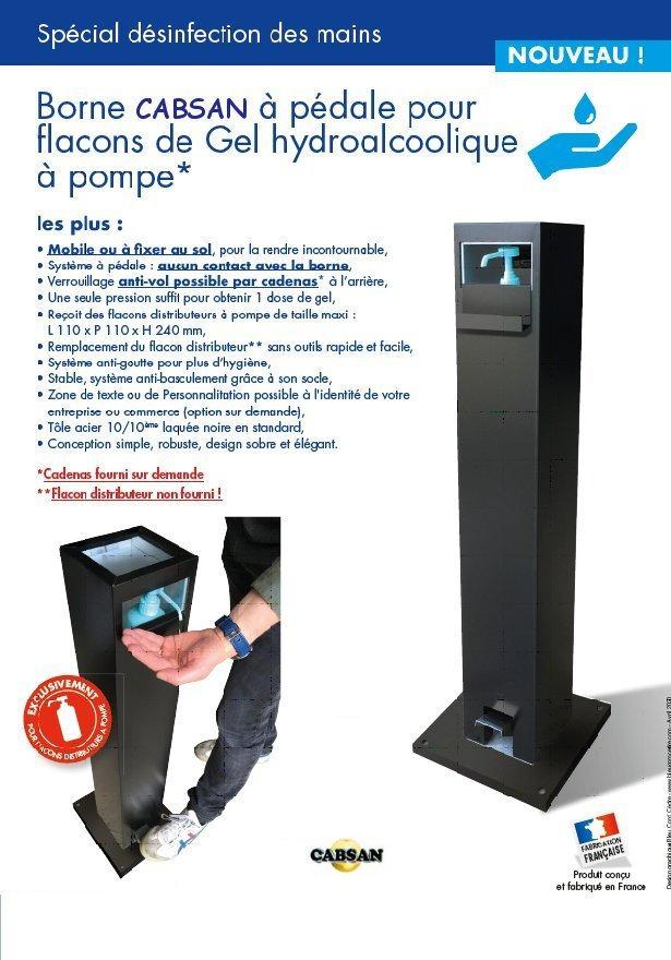 Distributeur sans contact gel hydroalcoolique/accessoires sanitaires CABSAN FRANCE
