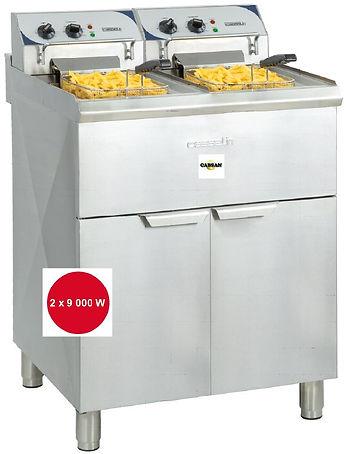 équipements collectivités CABSAN FRANCE-friteuse 2X10L sur pieds HR