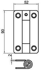 charniere de cabine douche stratifié compact HPL - CABSAN - beschläge für sanitärkabinen - Toilets cubicles hardware