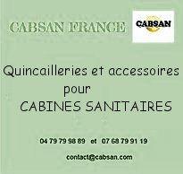 Quincailleries et accessoires pour cabines sanitaires