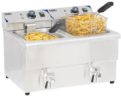 équipements collectivités CABSAN FRANCE-friteuse friteuse 8 litres x 2 avec vidange