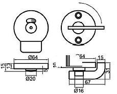 cabine wc CABSAN - verrou libre occupé - accessories for sanitary cabins HPL CABSAN - beschläge für sanitärkabinen