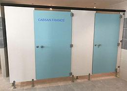 cabine sanitaire stratifié compact CABSAN FRANCE