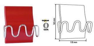accessoires sanitaires OLFA/patère OLFA