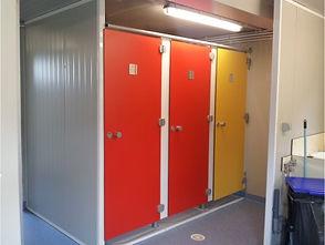 cabines sanitaires stratifié compact CABSAN FRANCE