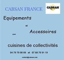 Equipements cuisines collectivités CABSAN FRANCE