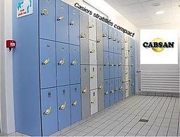 équipements collectivités/casiers stratifié compact CABSAN FRANCE