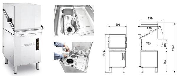 équipements cuisines collectivité CABSAN FRANCE-lave vaisselle