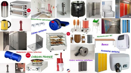équipements et accessoires pour collectivités CABSAN FRANCE