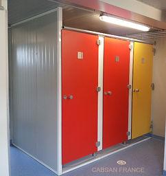 cabine sanitaire stratifié compact