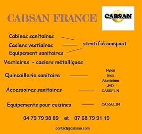 CABSAN FRANCE/ équipements collectivités