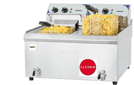 équipements collectivités CABSAN FRANCE-friteuse friteuse 10 litres x 2 avec vidange  10 l x 2 avec vidange HR